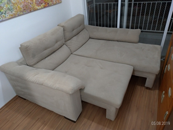 Sofá Retrátil Reclinável Com Chaise, 2 Lugares, Pillow Top