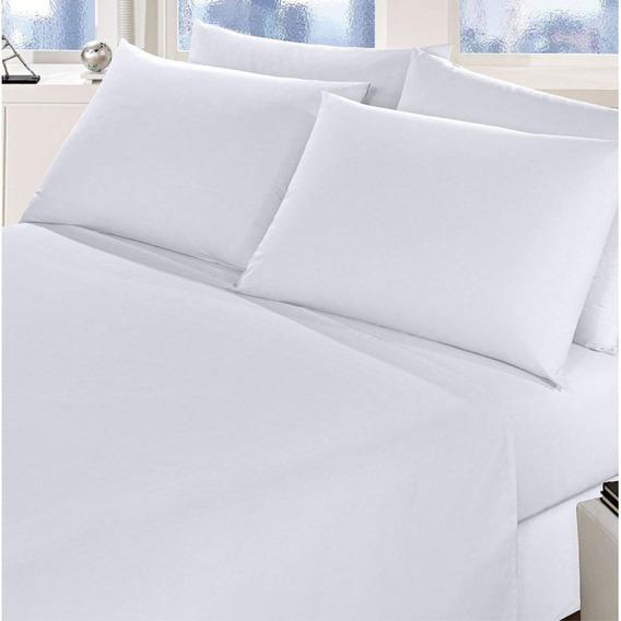 Kit 5 Lençol Branco Casal P/ Hotel Algodão 180 Fios