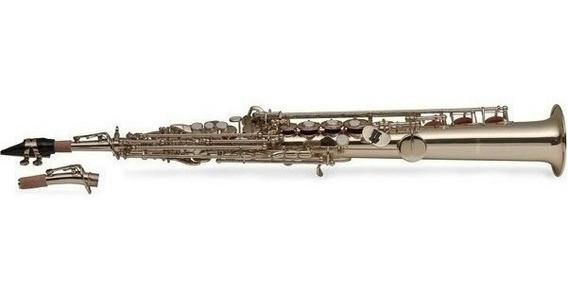 Bb Saxo Soprano High F & G + Estuche Stagg Wsss225s
