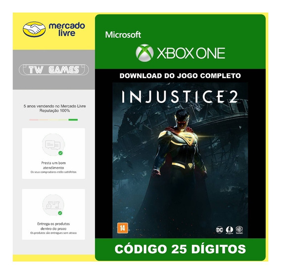 Injustice 2 Codigo 25 Digitos Original Xbox One