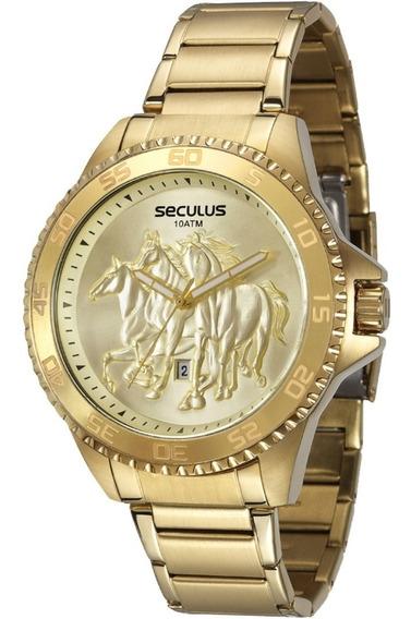 Relógio Masculino Seculus Country 20182gpsvda2 Dourado