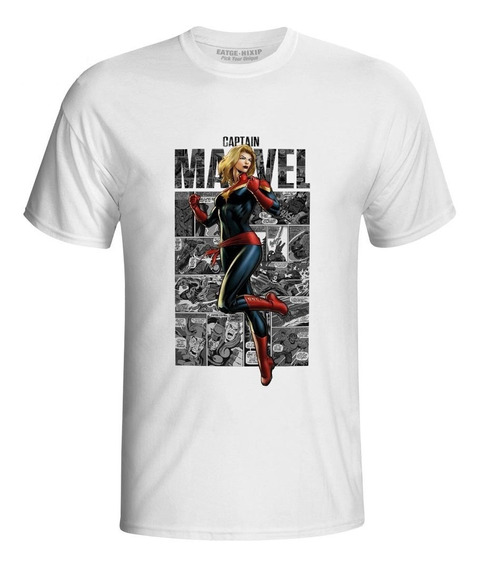Camisa Camiseta Blusa Capitã Marvel Ultimato Cosplay