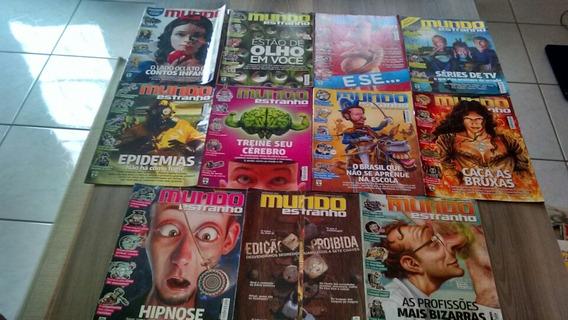 Lote 11 Revistas Mundo Estranho Ano 2012