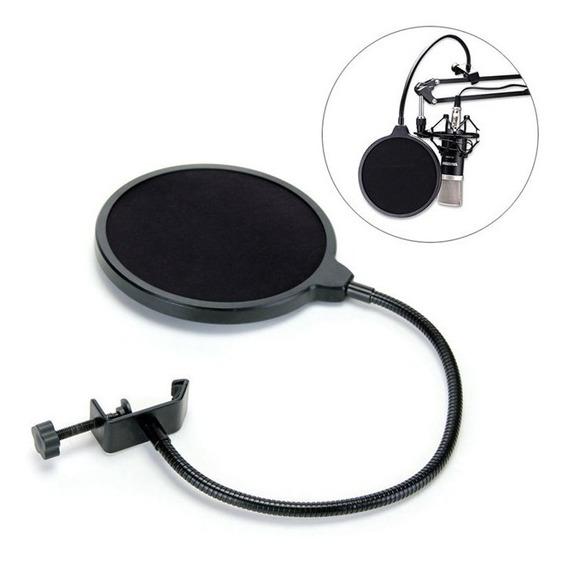 Pop Filter Anti Puff Para Microfone Condensador Profissional