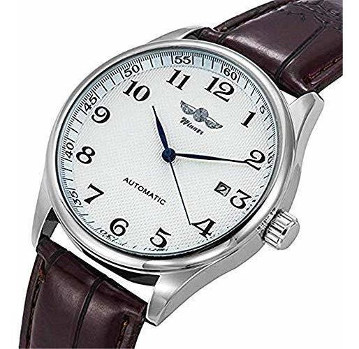 Reloj Mecanico Automatico De Cuerda Automatica Analogo Marro
