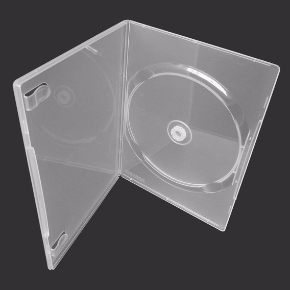 70 Capas Box Fino Dvd Pack Capinha Slin Amaray Transparente