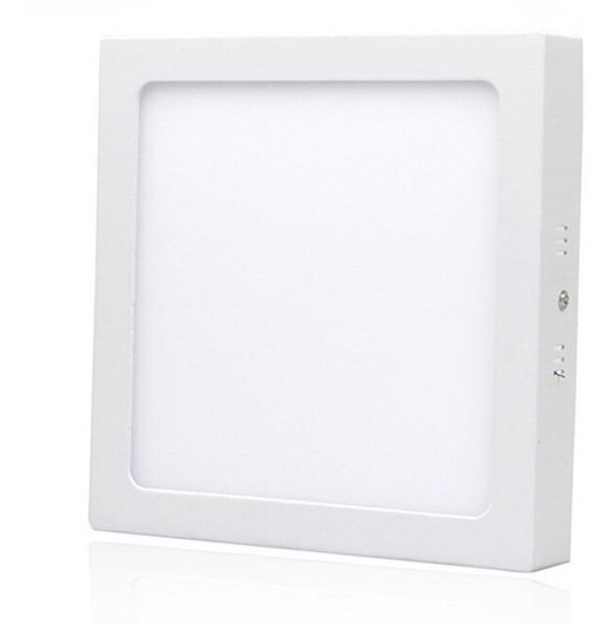 Painel Plafon 18w Luminaria Led Quadrado Sobrepor Branco