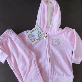 Conjunto Em Plush Baby Inverno Hello Kitty
