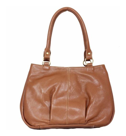 Bolsa Feminina Couro Legitimo Ombro Grande Star Bag 2003
