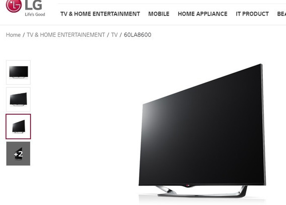 Tv 60 LG La8600 - 3d, Wifi, Câmera Integrada, Time Machine