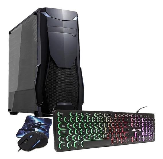 Pc Gamer Cpu Intel 8gb Hd500 Placa De Video R5 Teclado Mouse