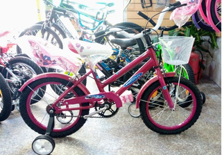 Bicicleta De Nena Rodado 16 Con Canasto De Metal