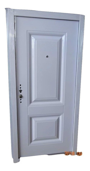 Puerta Seguridad Blindada Multianclaje Chapa 18 Pesada 53kg
