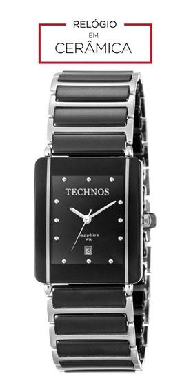 Relógio Technos Cerâmica Safira 1n12acpai/1p Preto Sapphire