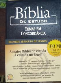 Bíblia De Estudo Temas Em Concordância Azul