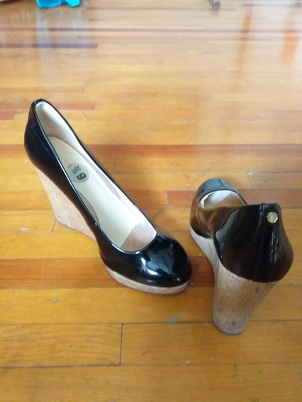 Zapato Nine West 6.5 Cuña Charol