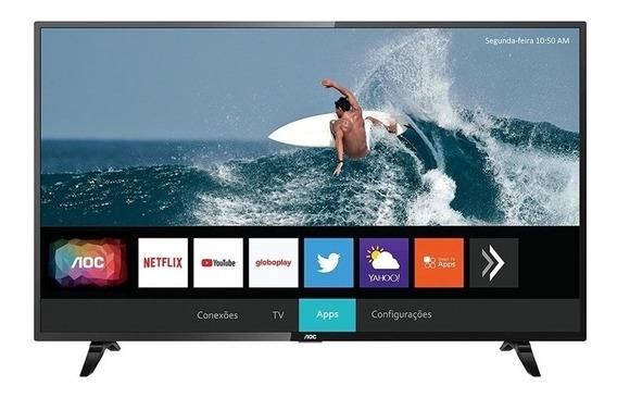 Smart Tv Aoc 32 Led Borde Ultra Delgado Netflix Black Dog.