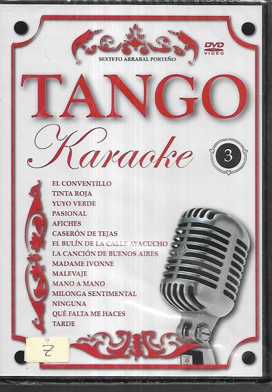 Karaoke Tango 3 Sexteto Arrabal Porteño 15 Temas Dvd Nuevo