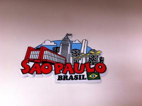 Ímã Da Cidade De São Paulo Masp-banespa-obelisco