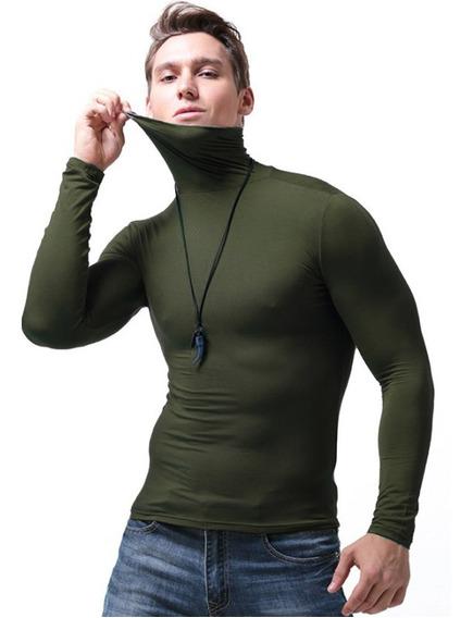 Playera Slim Fit Hombre Caballero Cuello Tortuga Camisa