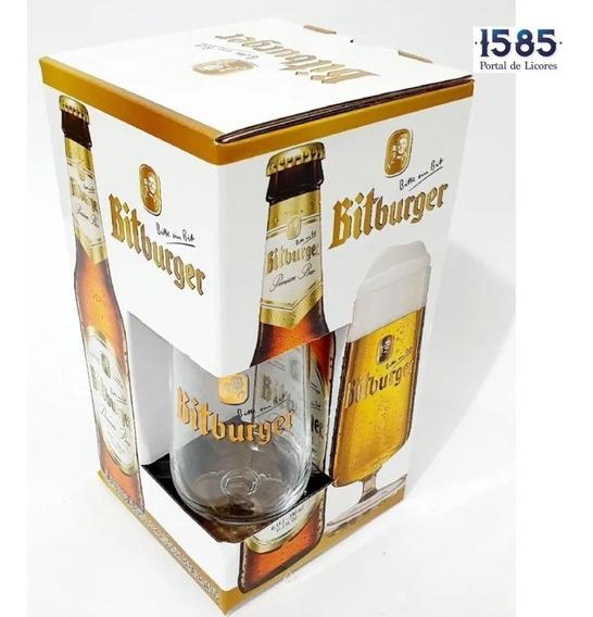 Cerveza Estuche Bitburger 330x 3 +copa - mL a $27