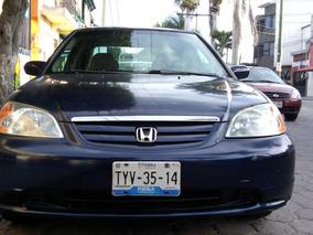 Honda Civic Ex Sedan At De Lujo Clima