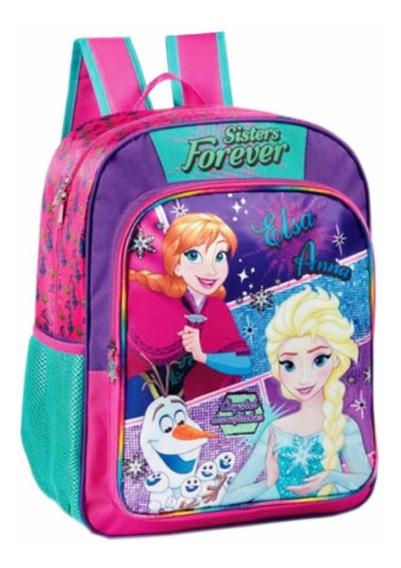 Mochila Frozen Systers Forever + 10 Lápiz De Regalo
