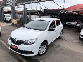 Renault Sandero Authentique 1.0 12v 2017 Branca Flex