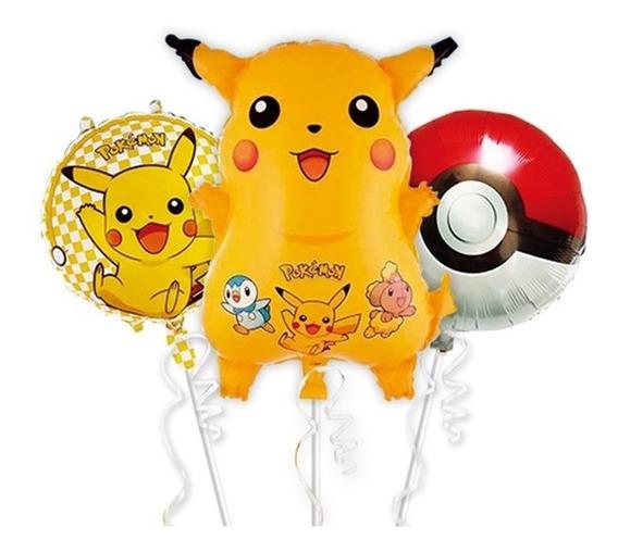 Paquete De 12 Globos Pokemon Fiesta Temática Pokebola
