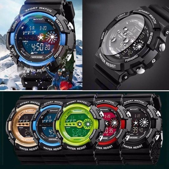 Relógio Sanda 320 Digital Importado Masculino Modelo Sport