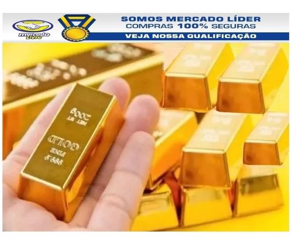 Barra De Ouro 18k 0,50g (meio Grama) Preço A Vista Novo