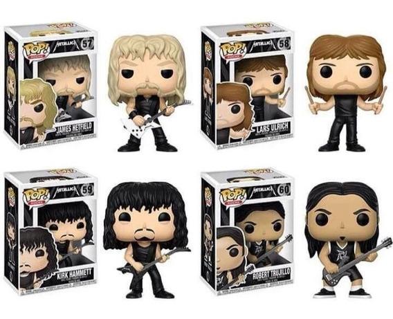 Kit Funko Pop Banda Metallica 4 Bonecos