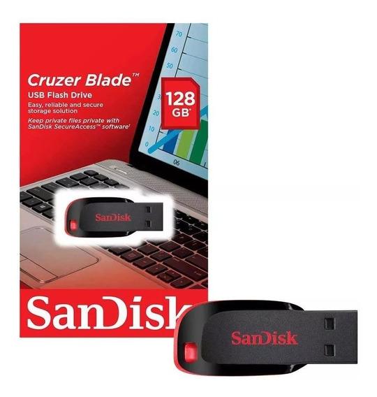 Pendrive 128gb Sandisk Cruzer Blade Original Lacrado