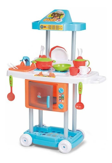 Cozinha Infantil Menino Riva Mr Chef Completa Calesita 1301