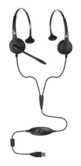 Kit Monitoramento Call Center Headset Usb Voip Mod. Fp 350