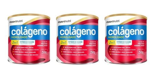 Imagem 1 de 1 de Maxinutri Colágeno Hidr 2em9 Fruta Vermelhas 250g (kit C/03)