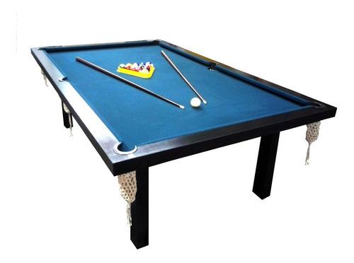 Mesa De Pool Profesional 2,40x1,40mts Mdf + Accesorios Pool