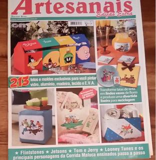 Revista Artesanato Pintura Cartoon (com Molde Dos Desenhos)