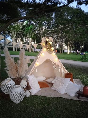Imagem 1 de 8 de Cabanas Infantis Para Festas De Pijama E Eventos