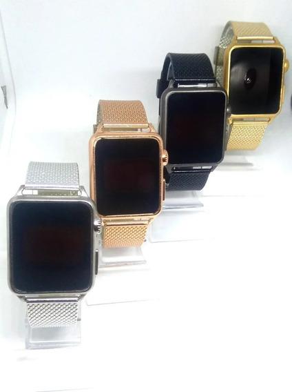 Relógios Digital Silicone Quadrado Sem Caixa - 10 Unidades