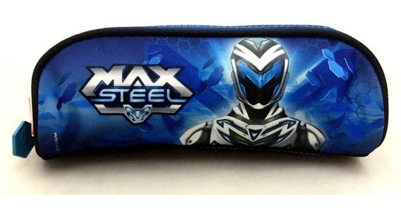 Estojo Escolar Simples Max Steel 16z Original Sestini