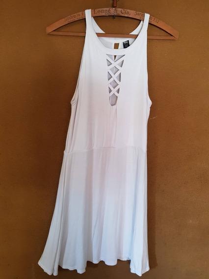Vestido Corto Modal Blanco Falabella