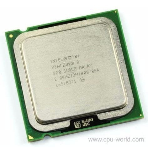 Processor Intel® Pentium® D 820 (2m Cache, 2.80 Ghz