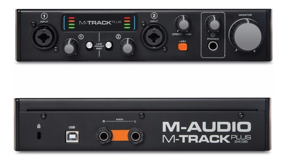 Placa Audio Usb M-audio Mtrack Plus Ii Interface De Sonido