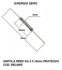 Ampola Reed Na 2 X 14mm Prateado Cod. Rel0405 Frete Cr