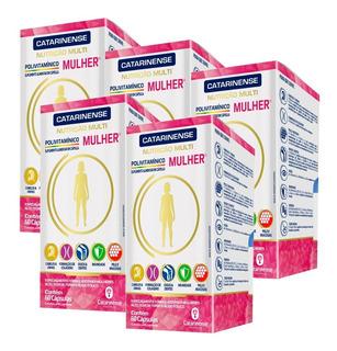 Polivitamínico A-z Mulher - 5x 60 Cápsulas - Catarinense