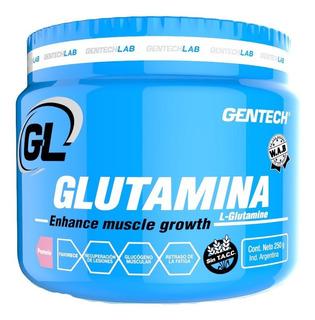 Glutamina 250 Gr Gentech Aminoácido Recuperador Muscular Sin Tacc