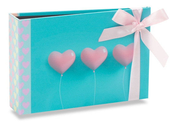 Álbum Gift Solda Coração Com Laço Rosa 60 Fotos 10x15