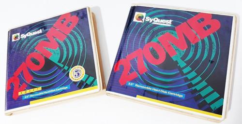 Disco Rígido Removível 3.5  Syquest (270mb) 1992 Raríssimos!