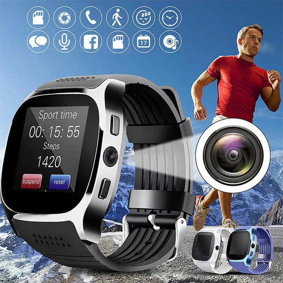 T8 Bluetooth Reloj Inteligente Com Cmera Facebook Whatsapp S